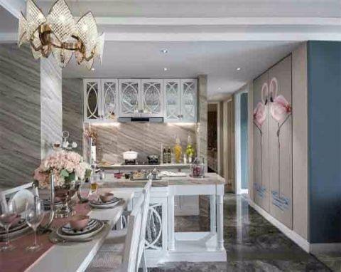 厨房吧台欧式风格装修图片