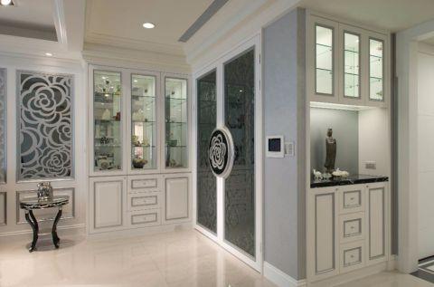 玄关地砖新古典风格装潢设计图片