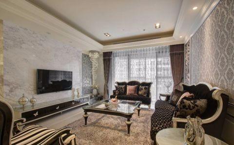 蓝鼎海棠湾120平米三居室新古典装修效果图