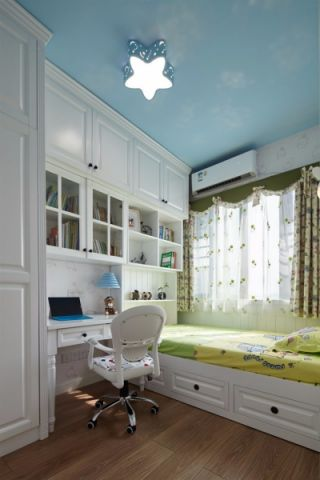 儿童房榻榻米美式风格装饰图片