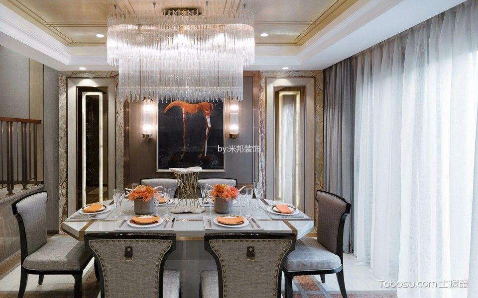 餐厅灰色窗帘混搭风格装修设计图片
