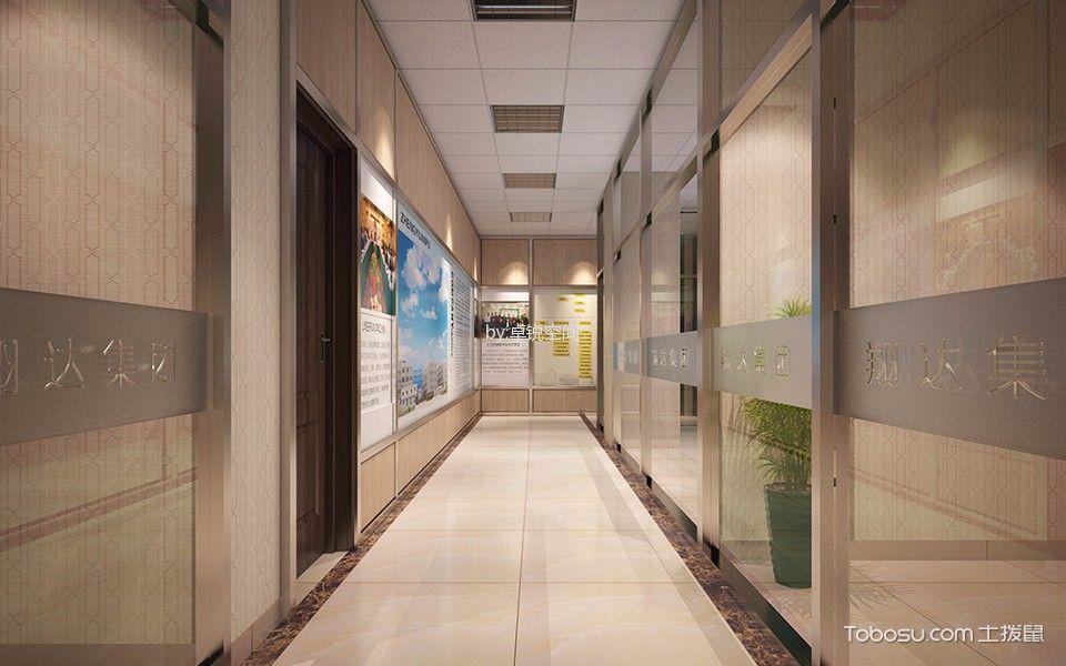 办公室走廊装饰实景图