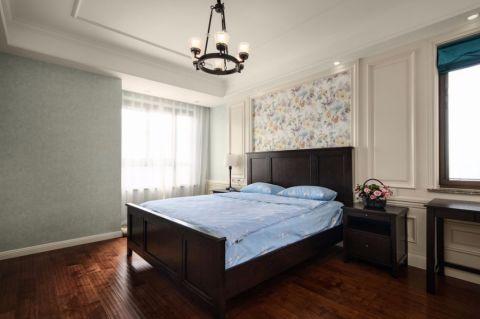 卧室床美式风格装饰图片