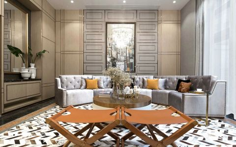 混搭风格120平米四室两厅新房装修效果图