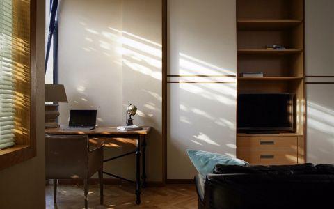 书房书桌混搭风格装潢效果图