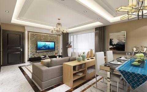 简约风格82平米两室两厅新房装修效果图