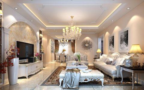欧式风格130平米三室两厅新房装修效果图