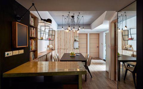 现代风格90平米两室两厅新房装修效果图