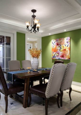 餐厅吊顶美式风格装潢图片