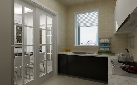厨房推拉门现代简约风格装饰设计图片