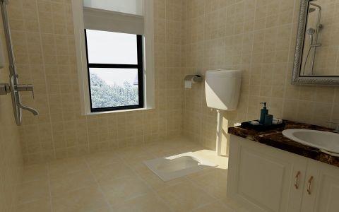 卫生间地砖现代简约风格装修效果图