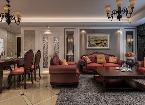 欧式风格135平米三室两厅室内装修效果图