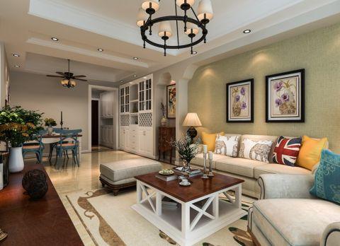 客厅照片墙美式风格装潢设计图片