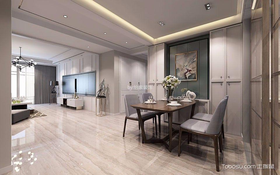 餐厅 餐桌_现代简约风格98平米两室两厅新房装修效果图
