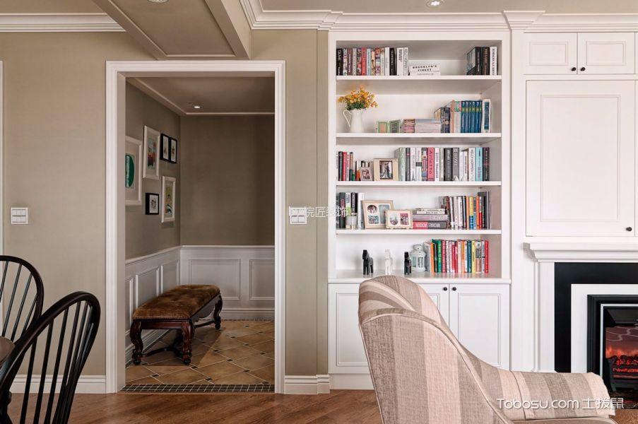 客厅咖啡色地板砖美式风格装修效果图