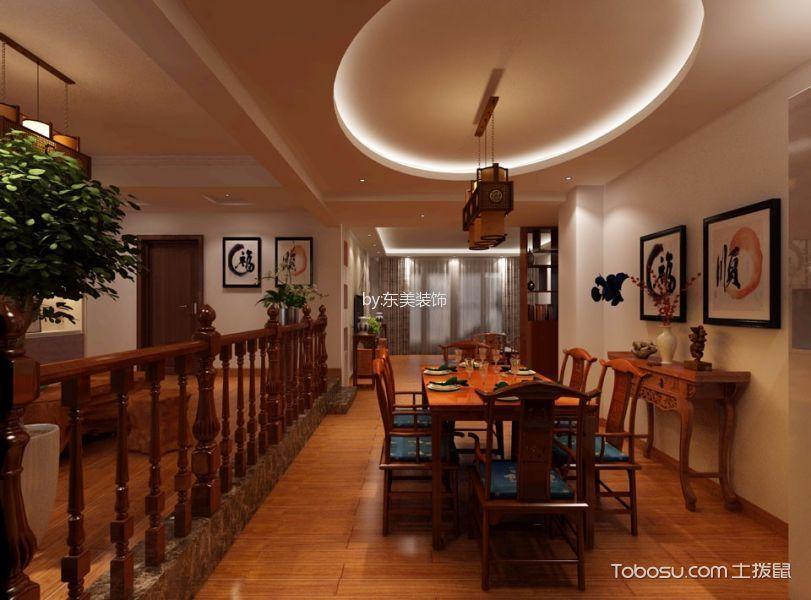餐厅白色吊顶中式风格装饰效果图