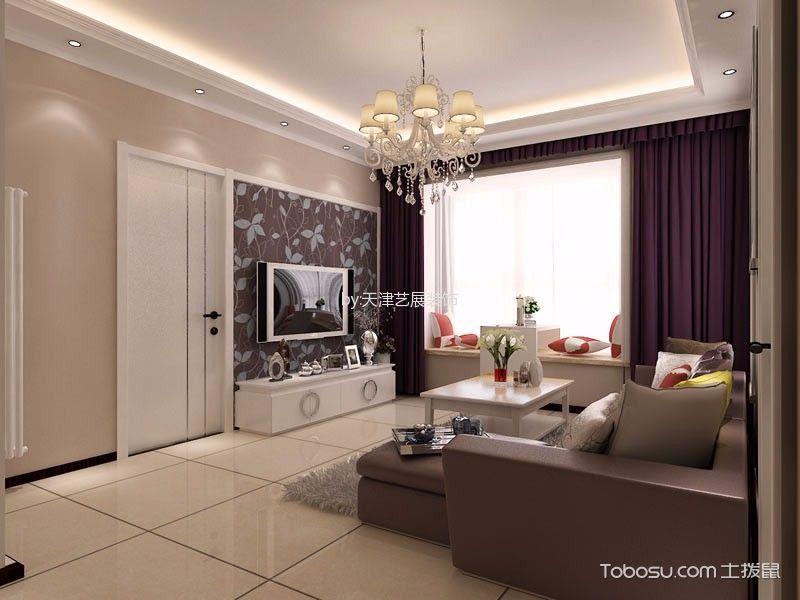 客厅 吊顶_现代简约风格120平米三室两厅新房装修效果图