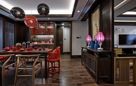 赏心悦目餐厅新中式装潢实景图片