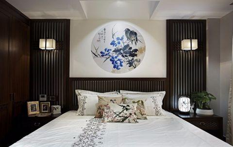 卧室床新中式装修实景图