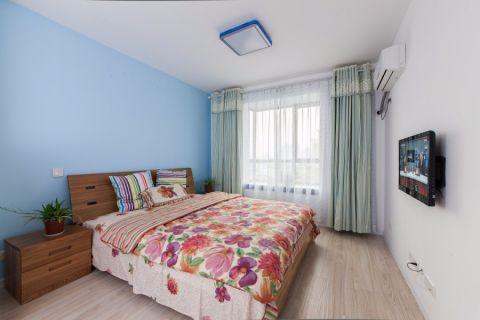 地中海卧室窗帘装修效果图