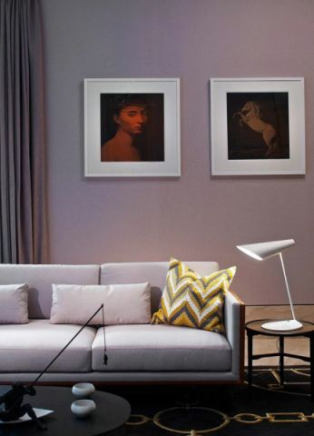 客厅照片墙新中式设计图片