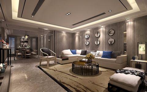 九龙仓繁华里现代中式风格四居室效果图