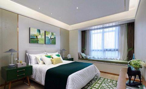 卧室飘窗中式风格装修图片