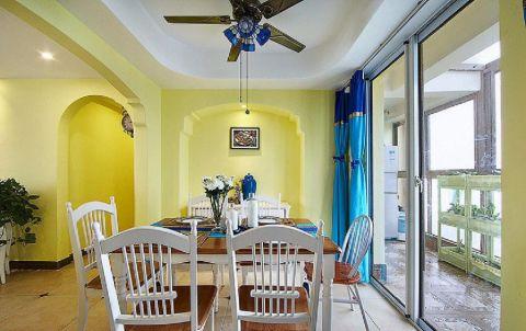 餐厅推拉门地中海风格装饰设计图片