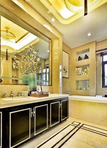 卫生间洗漱台中式风格装修图片
