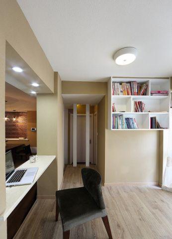 书房书桌简约风格装修图片