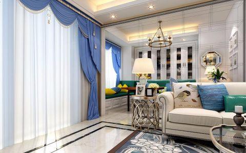 旭辉湖山源著115平美式风格四居室设计