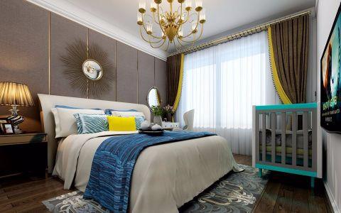 卧室背景墙美式风格装饰效果图
