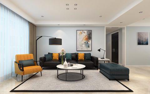 保利西山林语137平现代风格三室两厅设计效果图
