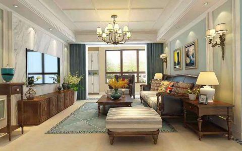 美式风格250平米三室三厅室内装修效果图
