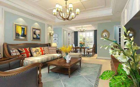 客厅茶几美式风格装饰效果图