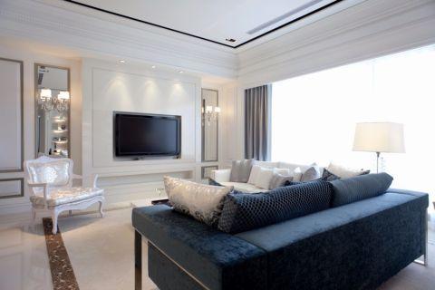 客厅背景墙法式风格装潢效果图