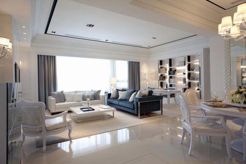 法式风格110平米三室两厅室内装修效果图