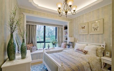 卧室窗帘简欧风格装饰图片