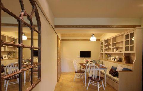 餐厅博古架美式风格装饰效果图