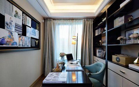 书房窗帘简欧风格装饰设计图片