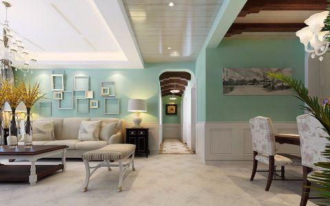 客厅灰色沙发田园风格装修效果图