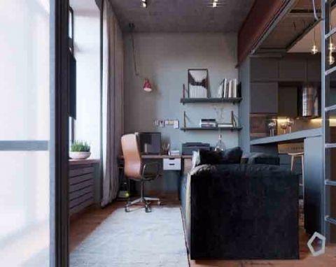 书房窗台简约风格装修效果图
