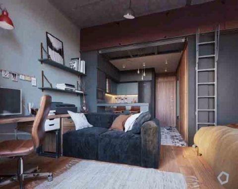 29平米简约风格单身公寓装修效果图