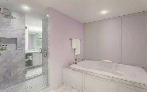 浴室白色浴缸简约风格装修图片