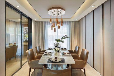 餐厅吊顶现代简约风格装潢设计图片