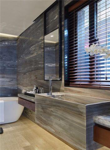 卫生间窗帘现代简约风格装潢效果图