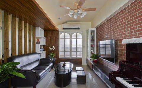 80平米美式风格两居装修效果图
