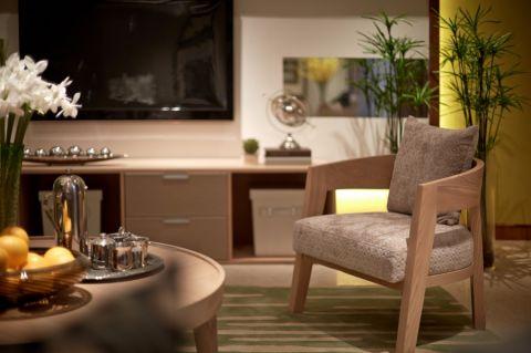 客厅咖啡色电视柜现代风格装潢设计图片