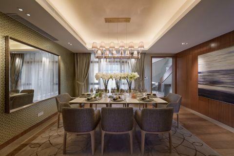 餐厅白色吊顶现代风格装饰效果图