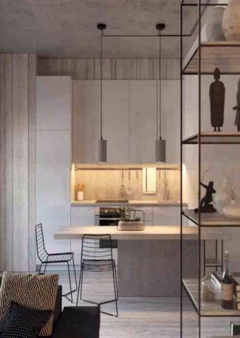 厨房白色走廊现代风格装饰设计图片